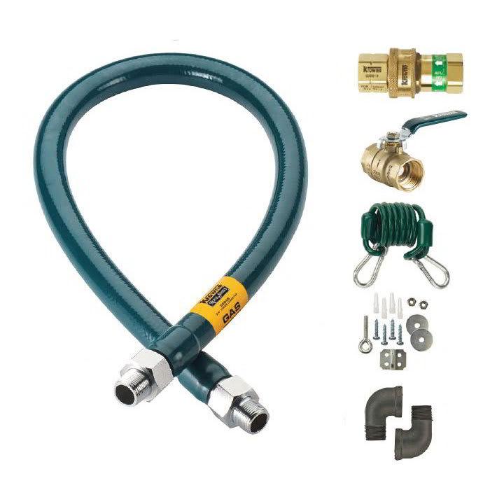 """Krowne M10024K 24"""" Gas Connector Kit w/ 1"""" Male/Male Couplings"""