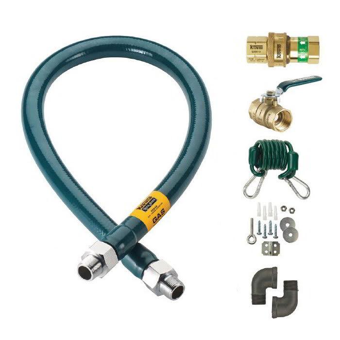 """Krowne M10036K 36"""" Gas Connector Kit w/ 1"""" Male/Male Couplings"""
