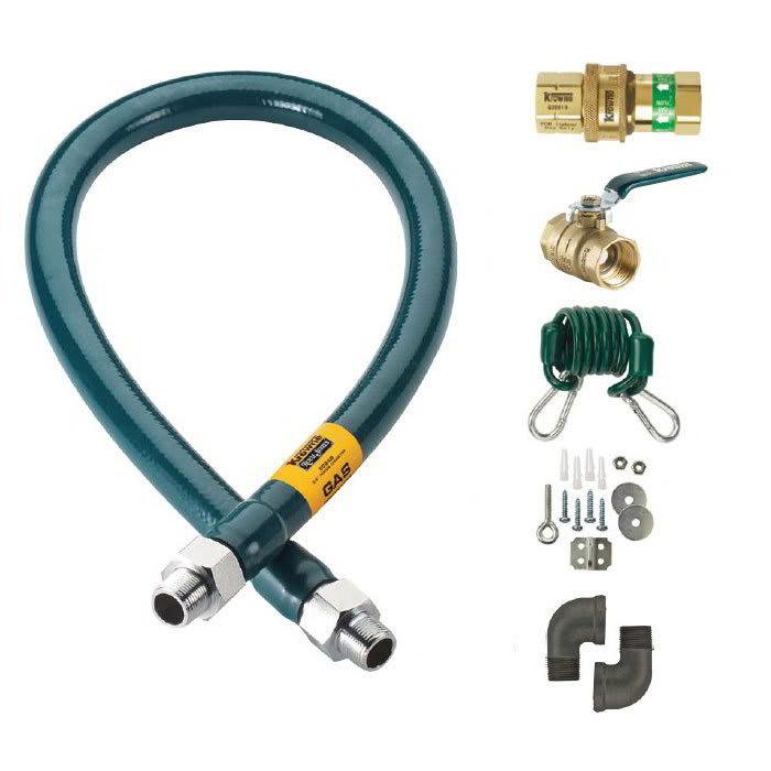 """Krowne M10072K 72"""" Gas Connector Kit w/ 1"""" Male/Male Couplings"""