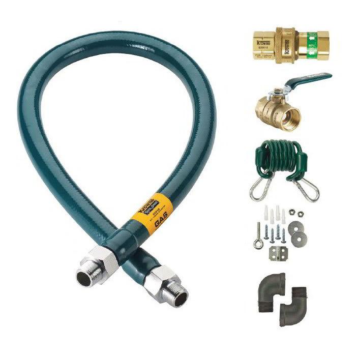 """Krowne M12560K 60"""" Gas Connector Kit w/ 1 1/4"""" Male/Male Couplings"""