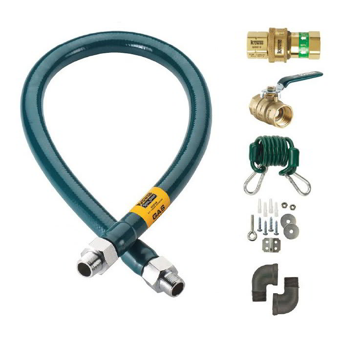"""Krowne M5048K 48"""" Gas Connector Kit w/ 1/2"""" Male/Male Couplings"""