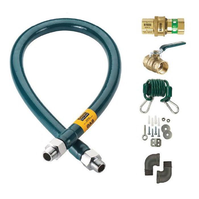 """Krowne M5060K 60"""" Gas Connector Kit w/ 1/2"""" Male/Male Couplings"""
