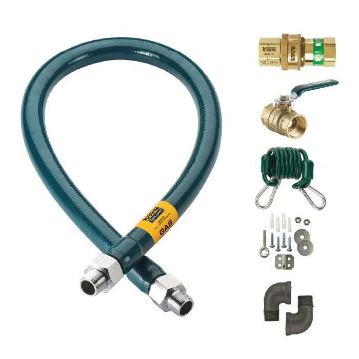 """Krowne M7560K 60"""" Gas Connector Kit w/ 3/4"""" Male/Male Couplings"""