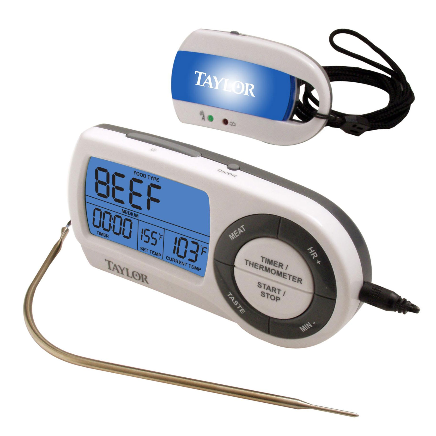 Taylor 1479-21 Wireless Digital Thermometer w/ Timer, 32 to 450 Degrees