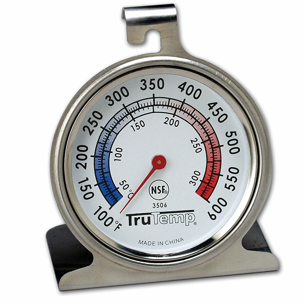 "Taylor 3506FS Oven Thermometer w/ 2.5"" Dial, 100F to 600F"