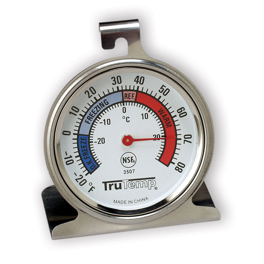 "Taylor 3507FS Refrigerator Freezer Thermometer w/ 2.25"" Dial, -20 to 80F"
