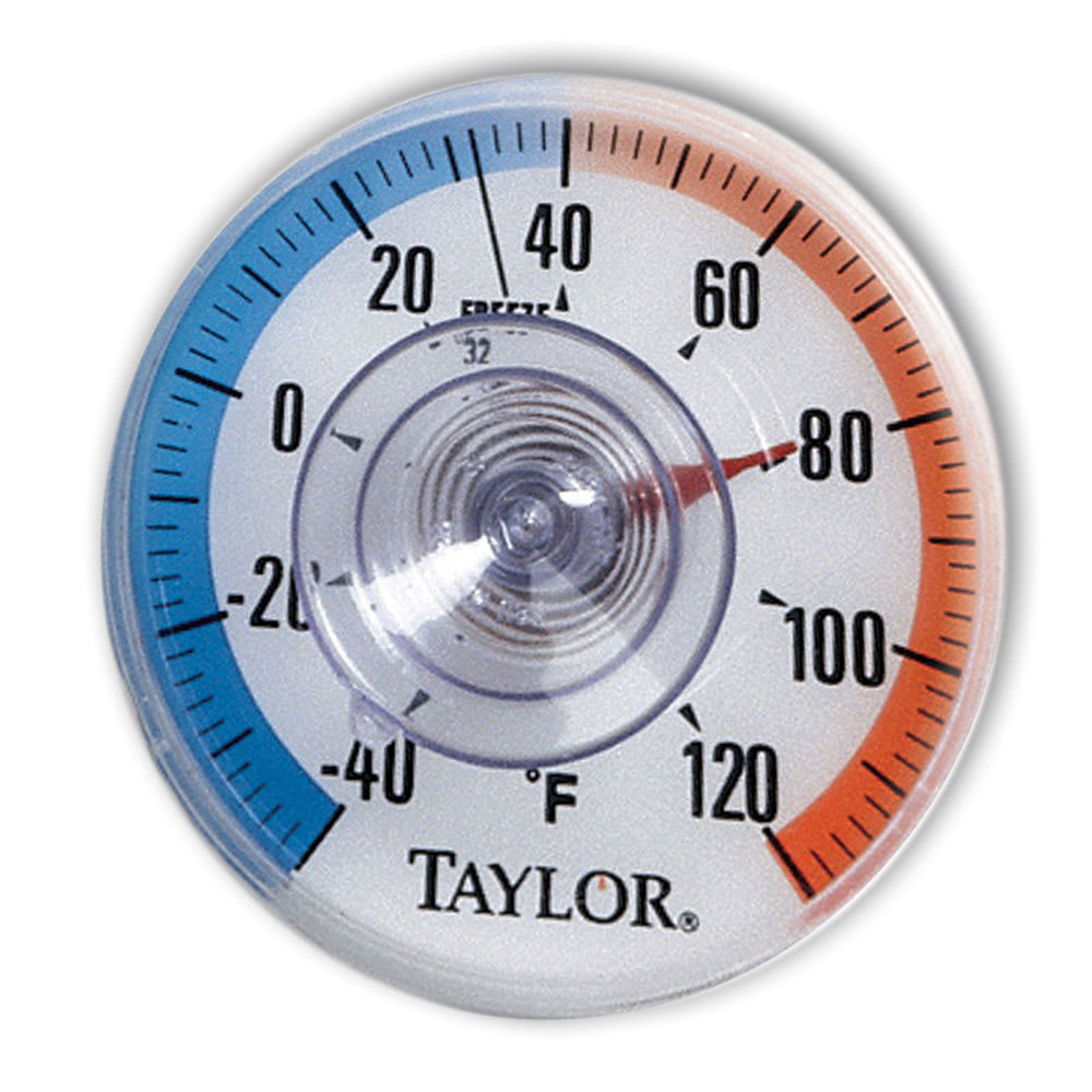 "Taylor 5321N Indoor Outdoor Window Thermometer, 3.5"" Dial, -40 to 120 Degree"