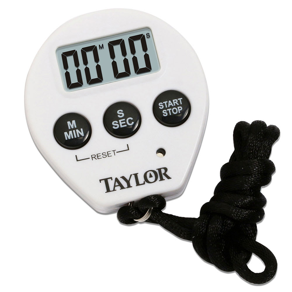 "Taylor 5816N Timer w/ Stop Watch & Recall Feature, 3/8"" LCD Display"