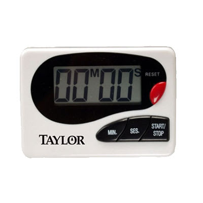 "Taylor 5822 Electronic Timer w/ Recall Function, .8"" Readout, Clip & Magnet"