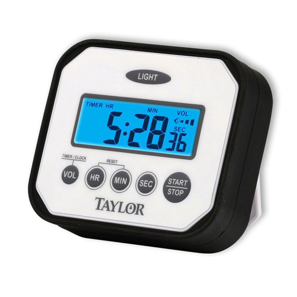 Taylor 5863 Digital Timer w/ Adjustable Volume Alarm, Water Resistant