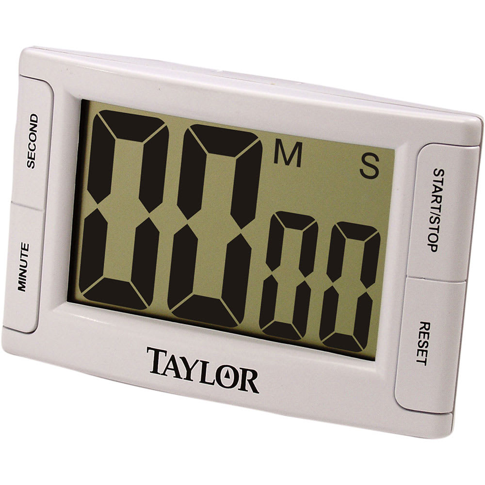 "Taylor 5896 Digital Timer w/ 2.5 x 1 3/5"" LCD & Memory Function, Jumbo Readout"