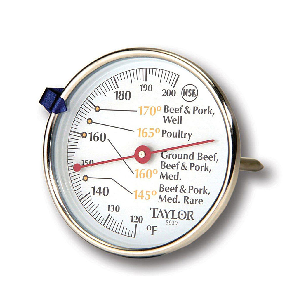 """Taylor 5939N Meat Thermometer w/ 2.75"""" Dial Display, 120 to 200 F Degrees"""