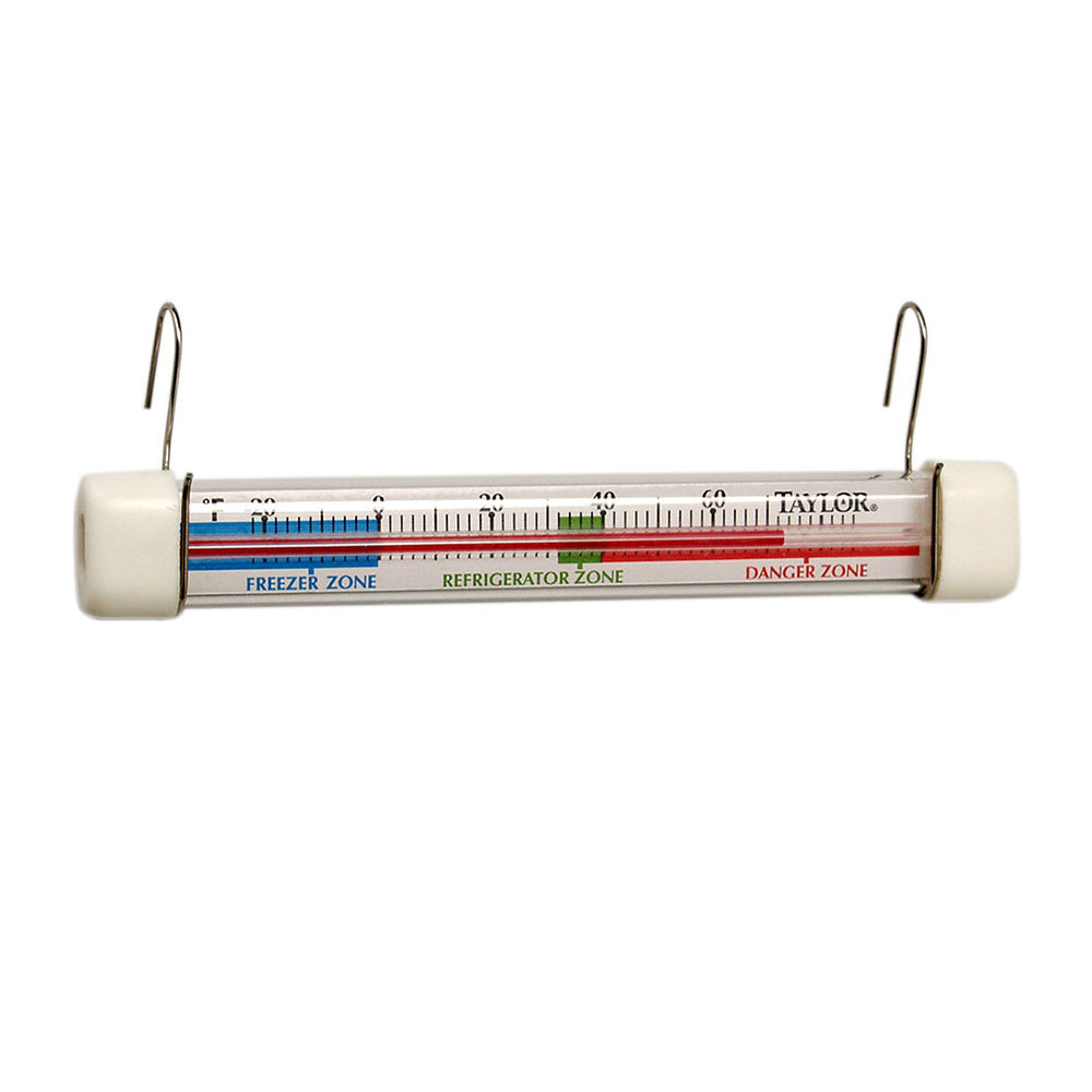 Taylor 5977N Refrigerator Freezer Thermometer, Safe Temperature Zone Indicator