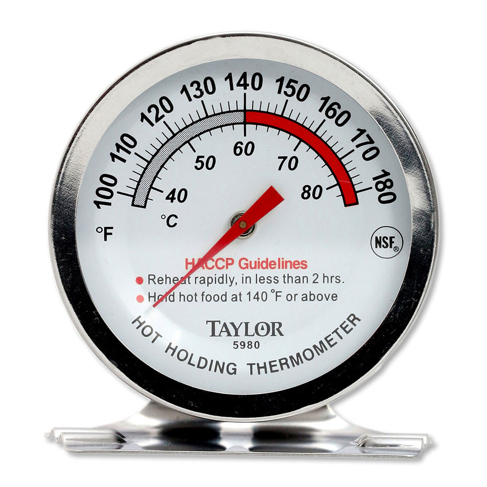 Taylor 5980N Professional Series Oven Thermometer, 0 - 220 Degrees F, NSF
