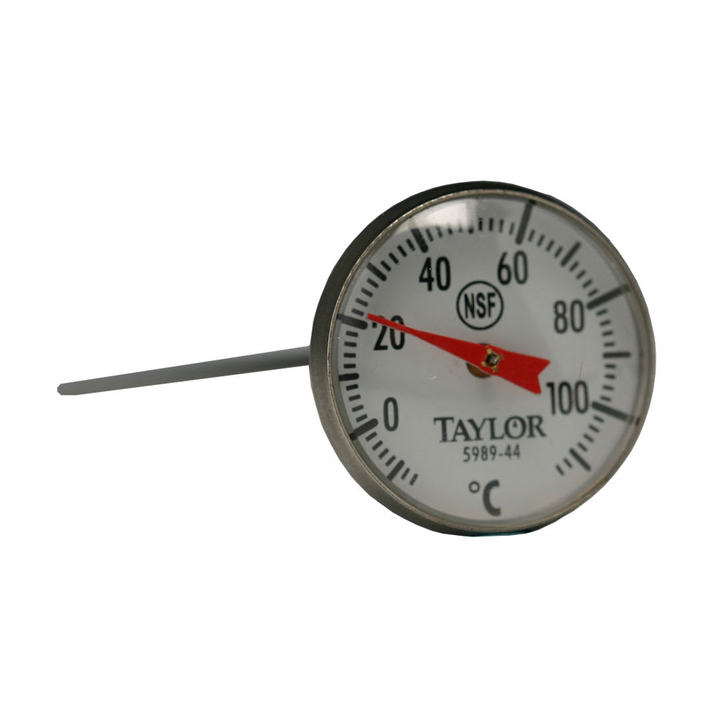 "Taylor 5989-44 Pocket Thermometer w/ 1"" Dial, 10 to 110 Degree Celsius Capacity"
