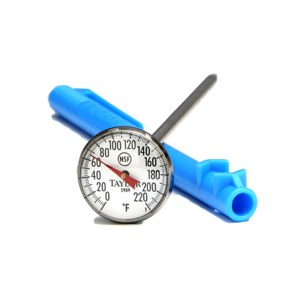 Taylor 5989N Pocket Thermometer w/ High Visibility Dial, 0 to 220F