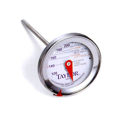 """Taylor 5990N Meat Thermometer, 2.75"""" Dial w/ Prep Scale, 120 to 250 F Degrees"""