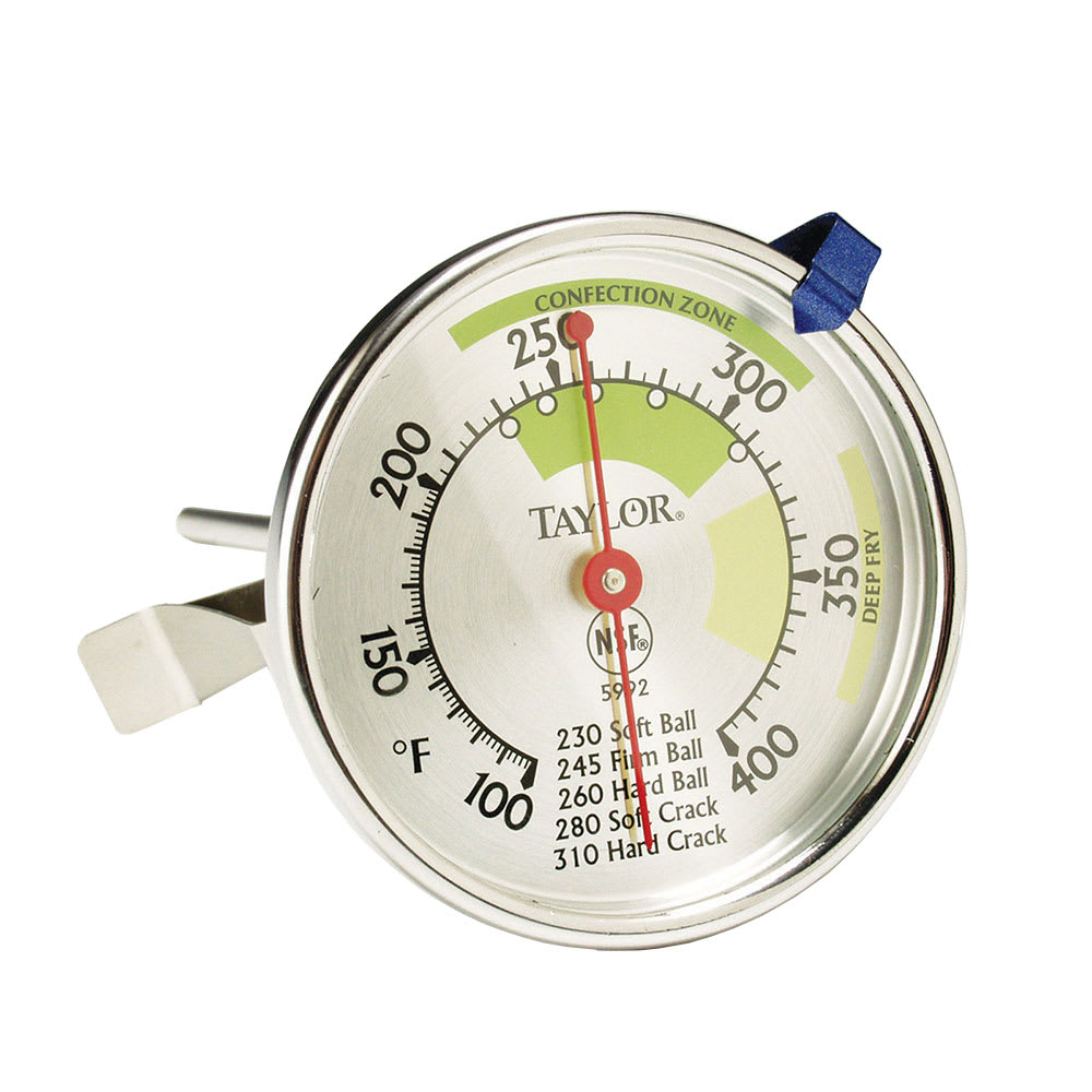 """Taylor 5992N Candy & Deep Fry Thermometer, 2.75"""" Dial, 40 to 200 C Degrees"""