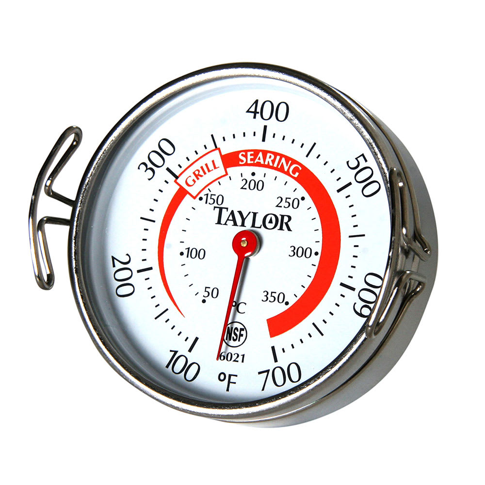 Taylor 6021 Dial Grill Thermometer w/ 100 to 600 Degree Capacity