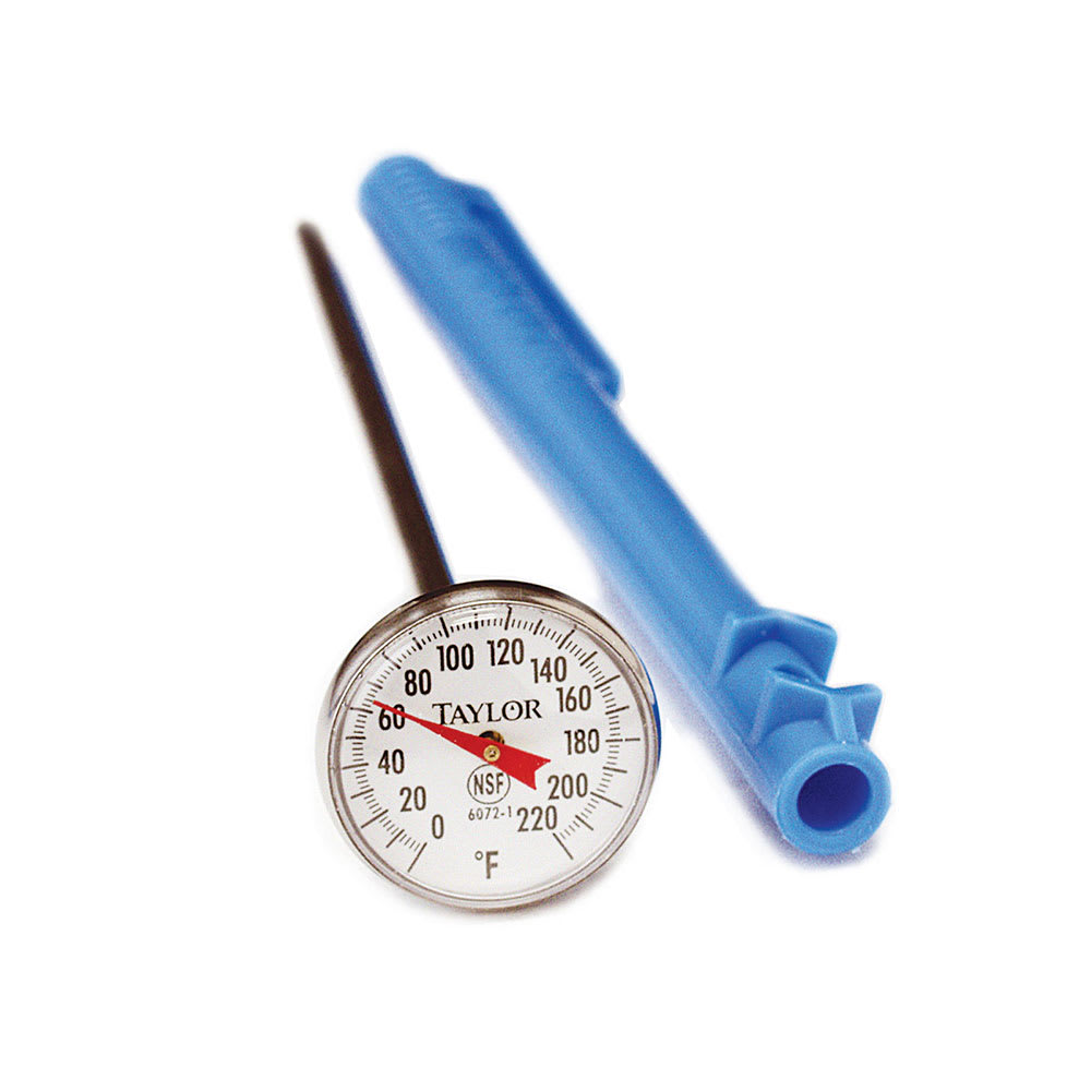 Taylor 6075 Pocket Thermometer w/ 3 Point Calibration, 25 to 125 F Degrees