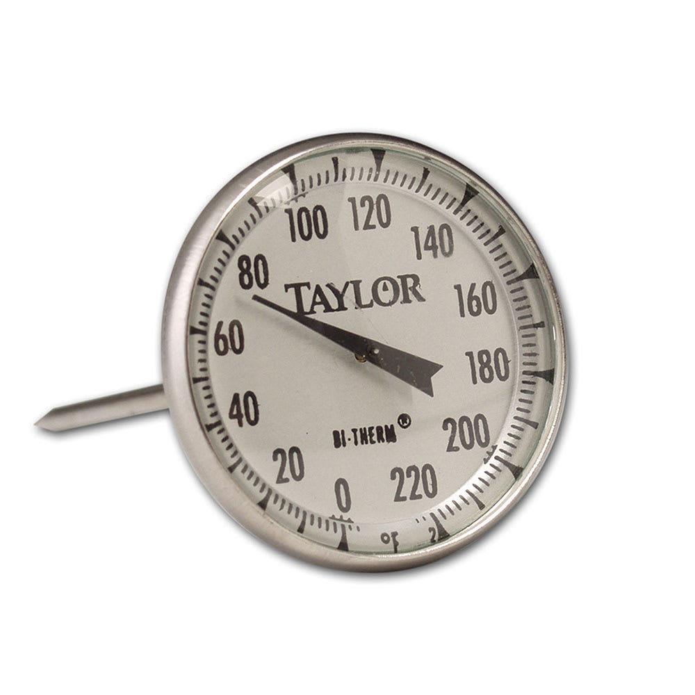 """Taylor 61054J Roast Meat Thermometer w/ 2"""" Dial Display, 0 to 220 F Degrees"""