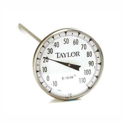 "Taylor 6235J Pocket Thermometer, 8"" Stem, -10 to 110 C Degrees"