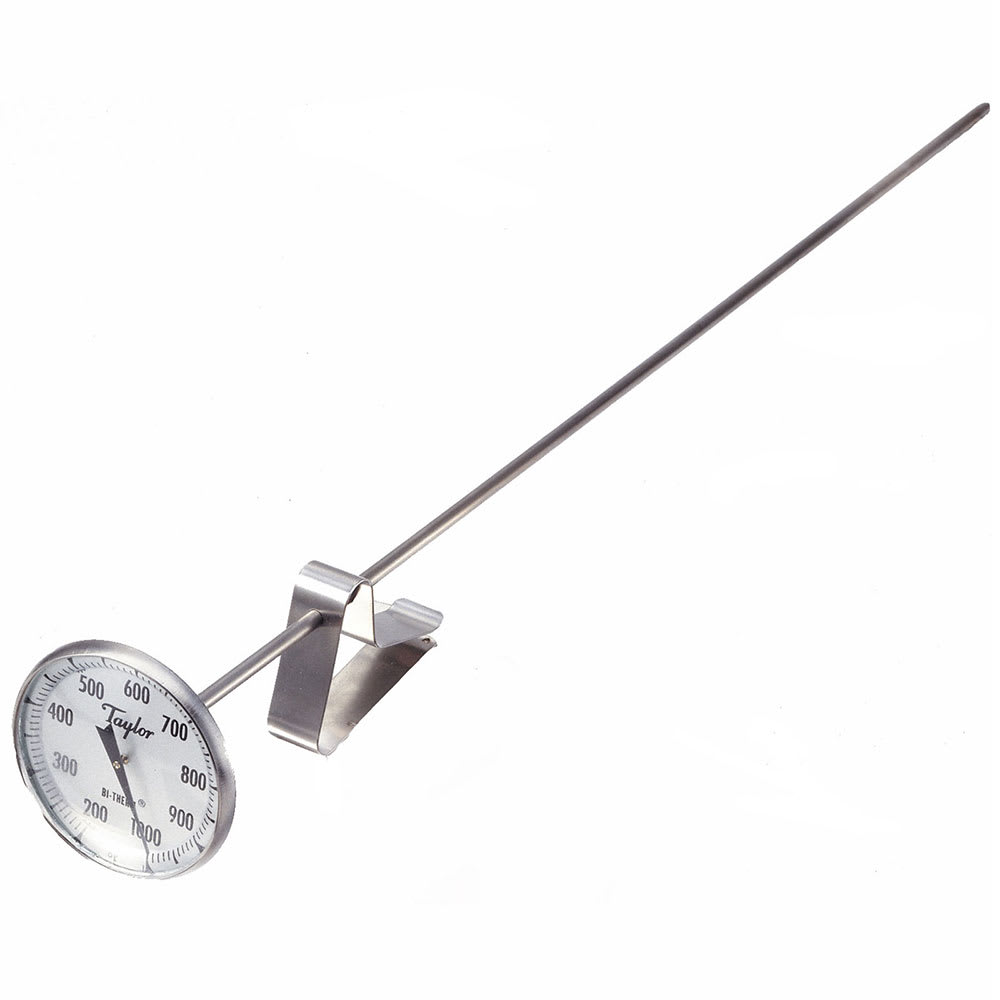 Taylor 6246J Hermetically Sealed CharBroiler Thermometer, 200 to 1000 F Degrees