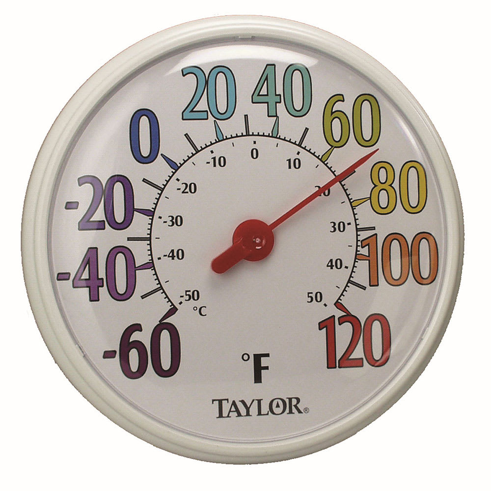 Taylor 6714 Indoor Outdoor Dial Thermometer, -60 to 120 Degree Range