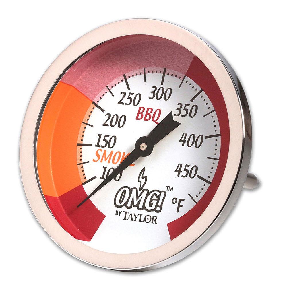 Taylor 814GW Dial Grill & Smoker Thermometer w/ Smoke & BBQ Range Indicator