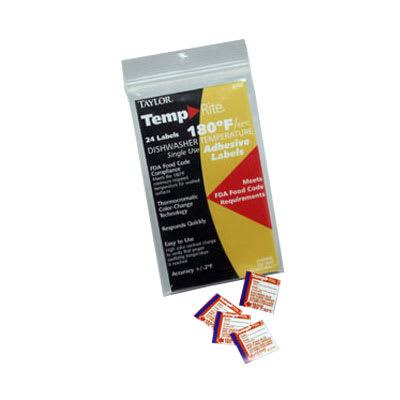Taylor 8750 Temperature Sensor Dishwasher Labels, Stick-On, 180 F