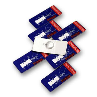 Taylor 8807 7-Day Disposable Adhesive Timestrips, Indicates Food Expiration