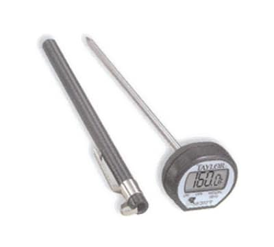 Taylor 9840 Digital Display Pocket Thermometer w/ 58 F to 302 F, Stainless Stem