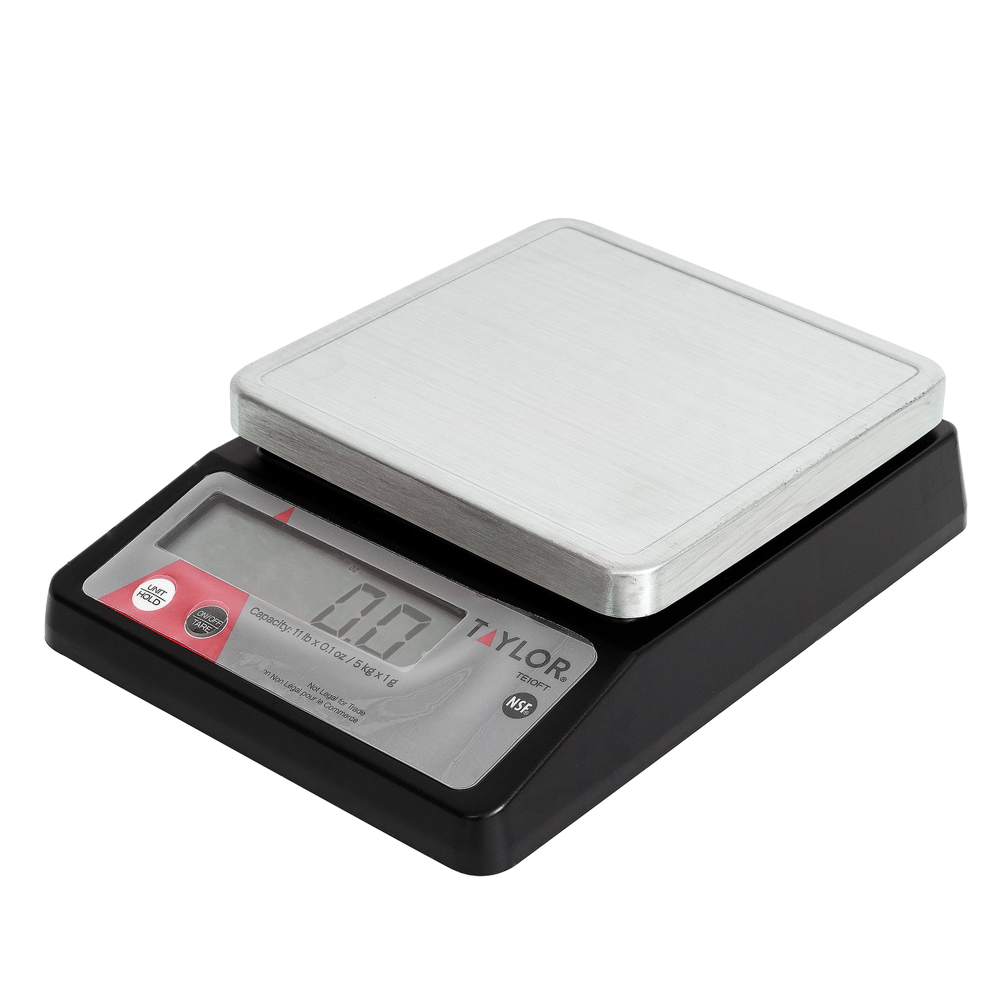 Taylor TE10FT Digital Scale, 10 lb x 1/10 oz Graduation