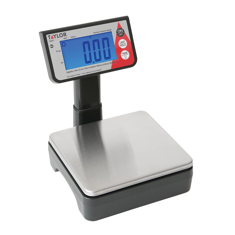 Taylor TE10T Digital Portion Scale w/ Tower LCD Readout, AC or Battery Powered