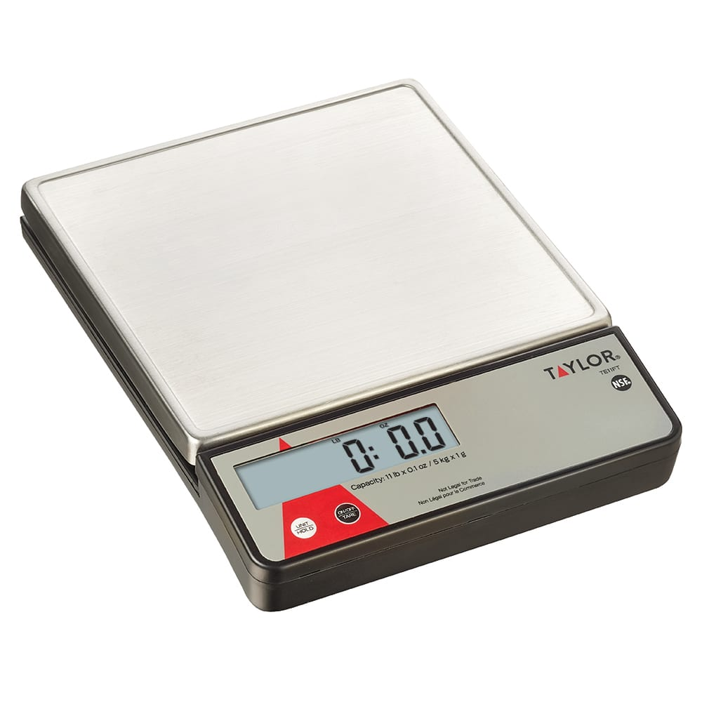Taylor TE11 Digital Portion Control Scale w/ Stainless Steel Platform & LCD Display