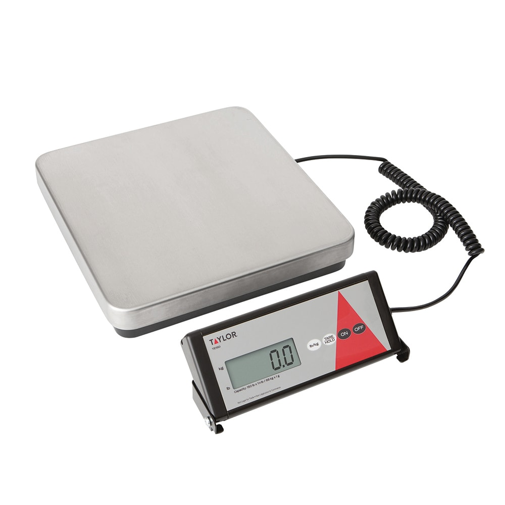 Taylor TE150 Receiving Scale w/ Removable Steel Tread Plate Platform, 150 lb