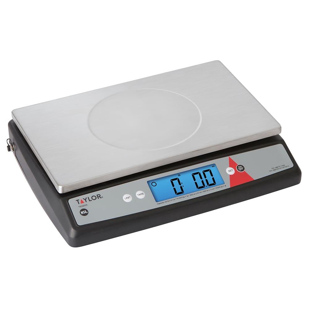 Taylor TE22OS Digital Portion Control Scale w/ 22-lb Capacity, Auto-Off