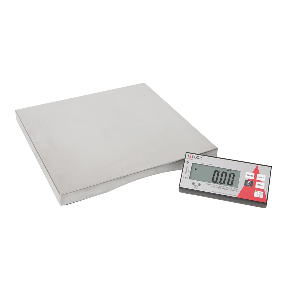 Taylor TE30WD Wireless Digital Portion Control Scale w/ 30-lb Capacity, Auto-Off