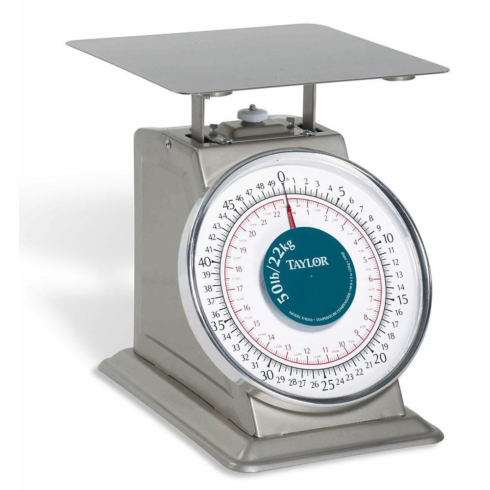 "Taylor THD50 50-lb Portion Control Scale w/ 9x 9"" Platform"