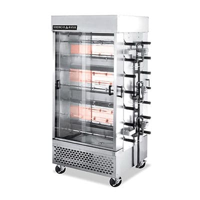 American Range ACB-14 Gas 14-Spit Commercial Rotisserie, NG