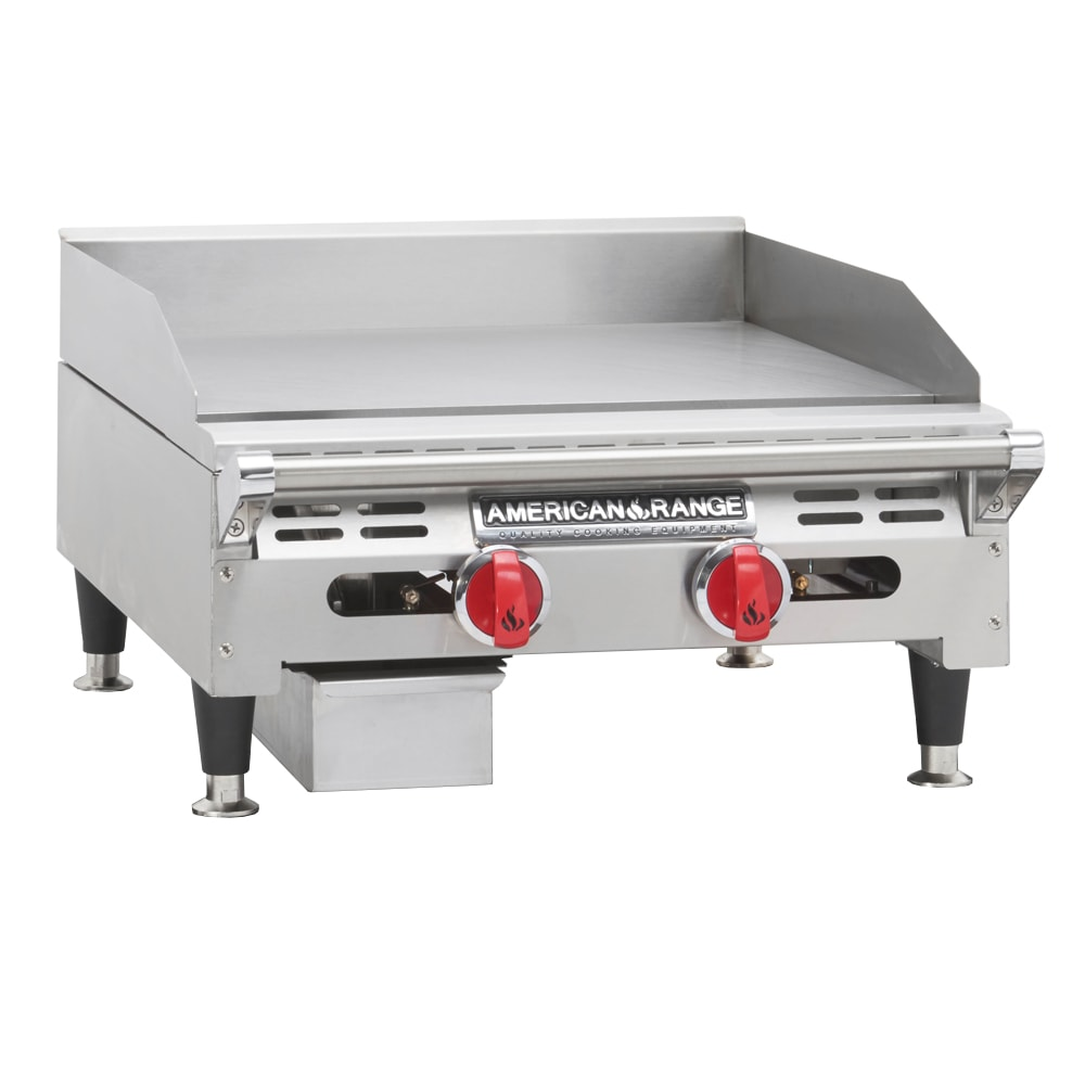 "American Range AEMG24 LP 24"" Gas Griddle - Manual, 3/4"" Steel Plate, LP"