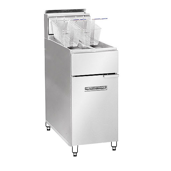 American Range AF2525 Gas Fryer - (1) 30 lb Vat, Floor Model, NG