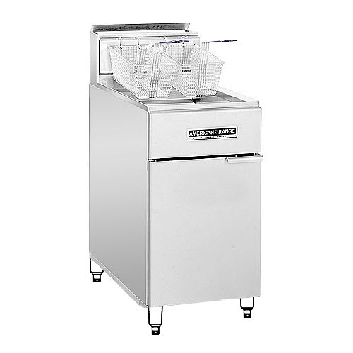 American Range AF75 Gas Fryer - (1) 80-lb Vat, Floor Model, LP
