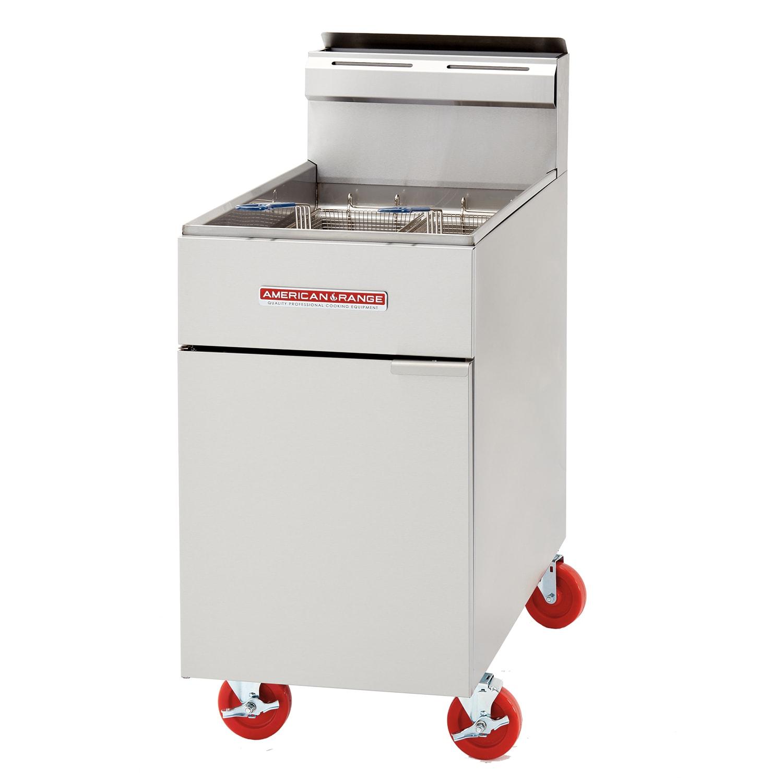 American Range AF75 Gas Fryer - (1) 80 lb Vat, Floor Model, LP