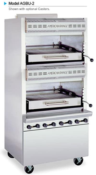 American Range AGBU-2 NG Infrared Broiler w/ 2 Decks & Stainless Exterior, 160000 BTU, NG