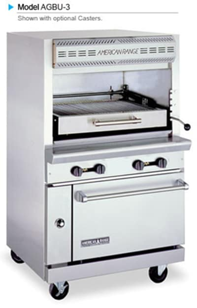 American Range AGBU-3 LP Infrared Broiler w/ 1 Deck & Oven Base, Stainless Exterior, 115000 BTU, LP