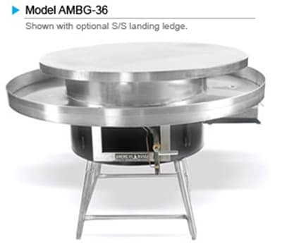 "American Range AMBG-48 LP 48"" Round Mongolian BBQ w/ Polished Cooking Surface, 125000-BTU, LP"