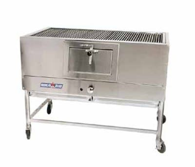 "American Range AMSQ-48 NG 48"" Mesquite Broiler w/ Cast Iron Removable Grates, 30000 BTU, NG"
