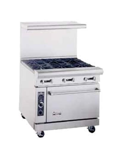 "American Range AR12G4B 36"" 4 Burner Gas Range with Griddle, LP"