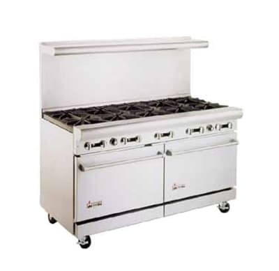 "American Range AR12G-8B 60"" 8-Burner Gas Range with Griddle, LP"